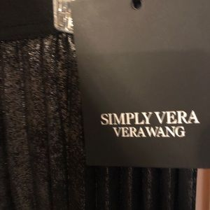 Women's Simply Vera Vera Wang pleated Shine Skirt